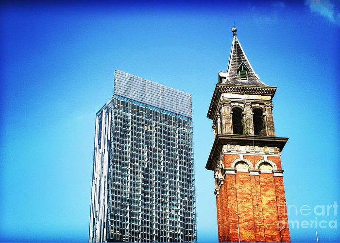 Architecture Greeting Card featuring the photograph Manchester - Beetham Tower by Hristo Hristov