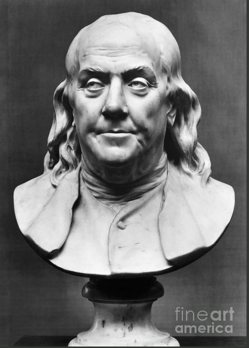 1778 Greeting Card featuring the photograph Benjamin Franklin (1706-1790) by Granger