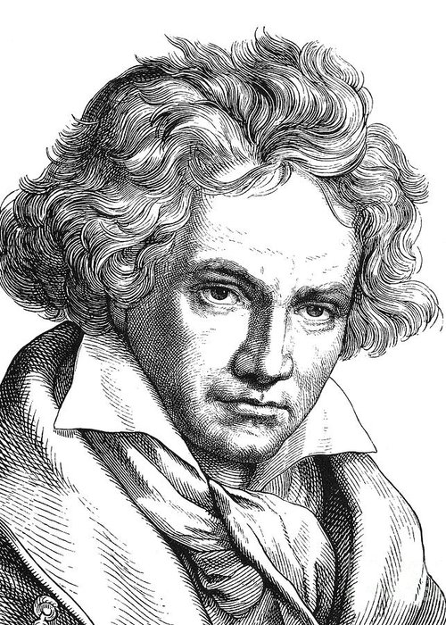18th Century Greeting Card featuring the photograph Ludwig Van Beethoven by Granger