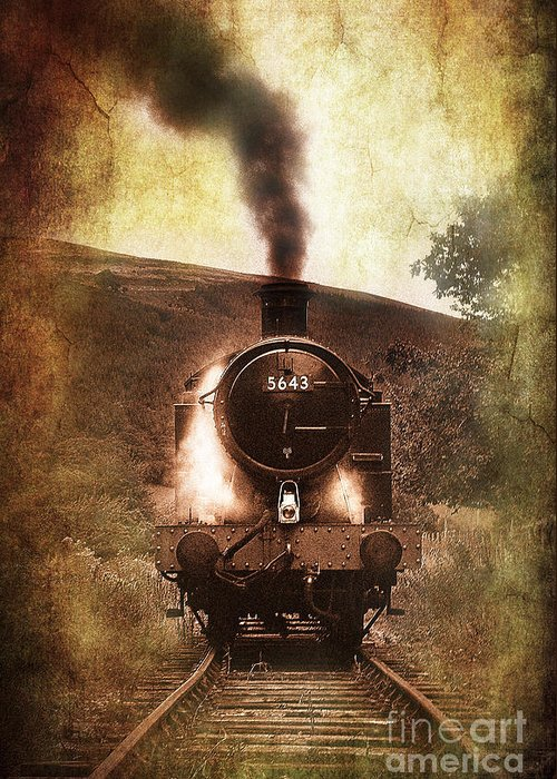 Train Greeting Card featuring the photograph A Bygone Era by Meirion Matthias