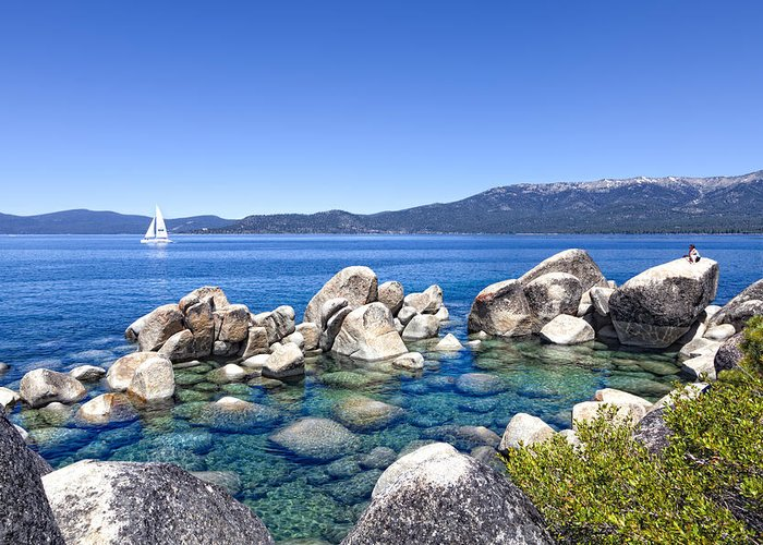 Lake Tahoe Greeting Card featuring the photograph A Day At The Lake by Janet Fikar