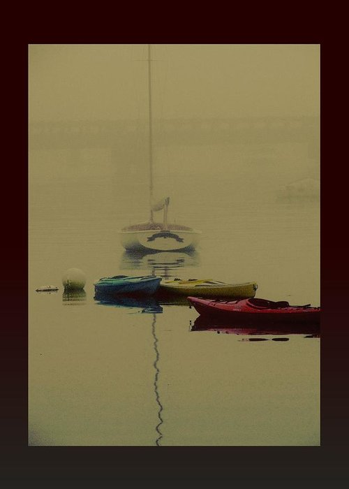 Boats Greeting Card featuring the photograph A Foggy Day On Cape Cod Bay... by Rene Crystal