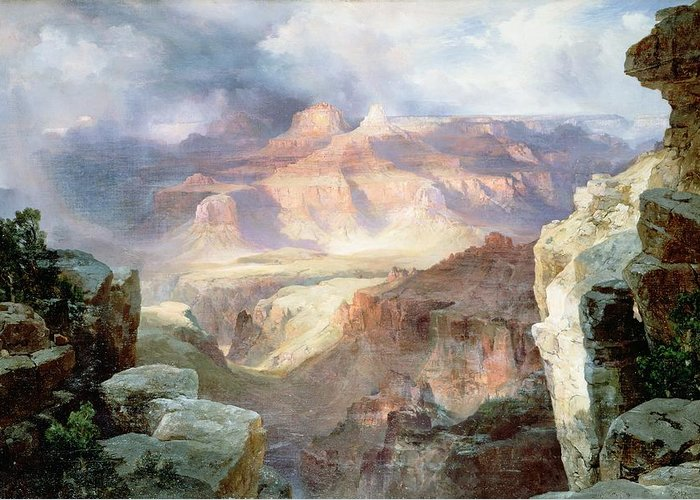 A Miracle Of Nature Greeting Card featuring the painting A Miracle Of Nature by Thomas Moran