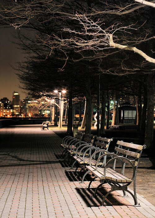 Pier A Greeting Card featuring the photograph A Night In Hoboken by JC Findley