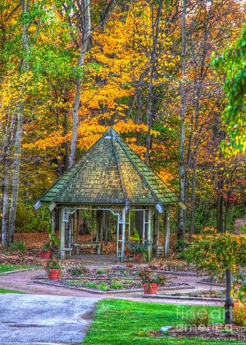 Fall Greeting Card featuring the photograph A Quiet Place-fall Time by Robert Pearson