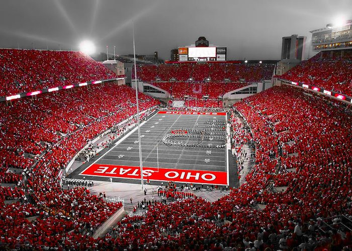 Ohio State Buckeyes Greeting Cards For Sale