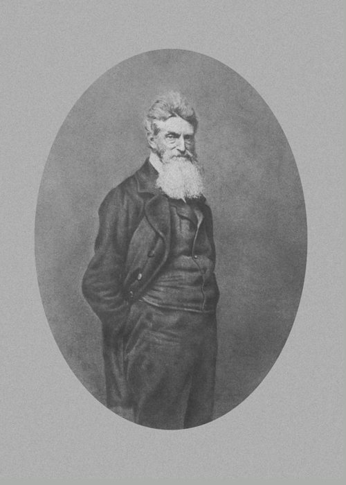 John Brown Greeting Card featuring the photograph Abolitionist John Brown by War Is Hell Store