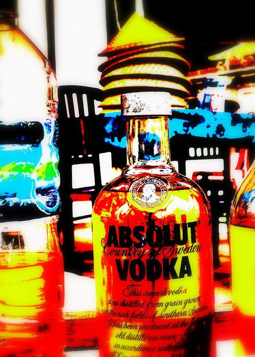 Bali Greeting Card featuring the photograph Absolut Gasoline Refills For Bali Bikes by Funkpix Photo Hunter
