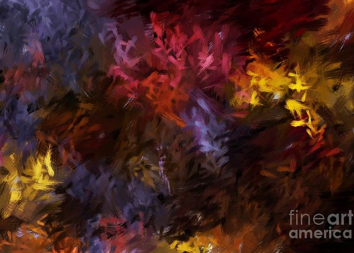 Abstract Greeting Card featuring the digital art Abstract 5-23-09 by David Lane