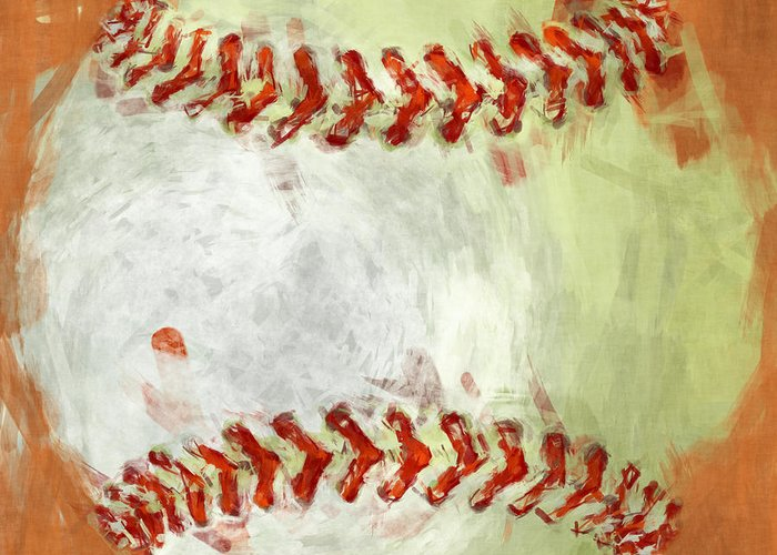 Baseball Greeting Card featuring the photograph Abstract Baseball by David G Paul