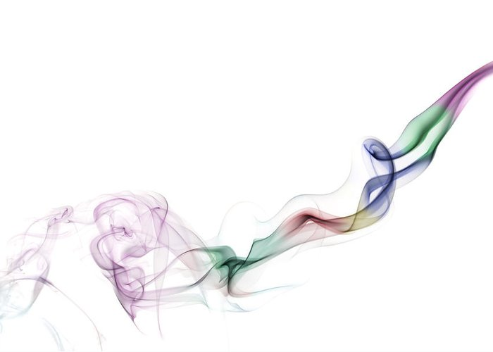 Abstract Greeting Card featuring the photograph Abstract Smoke by Setsiri Silapasuwanchai