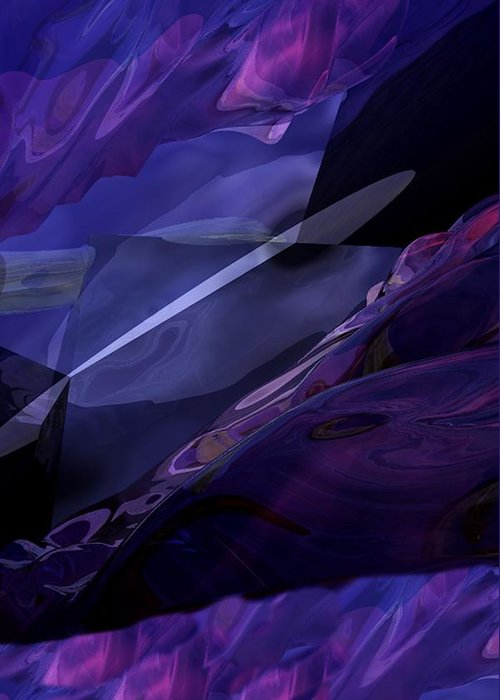 Abstract Greeting Card featuring the digital art Abstractbr6-1 by David Lane