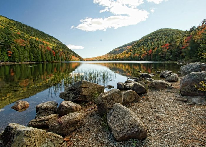 Maine Greeting Card featuring the photograph Acadia Scenery by Alexander Mendoza