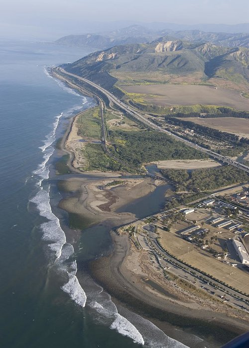 Aerial Views Greeting Card featuring the photograph Aerial View Of Ventura Point, Ventura by Rich Reid