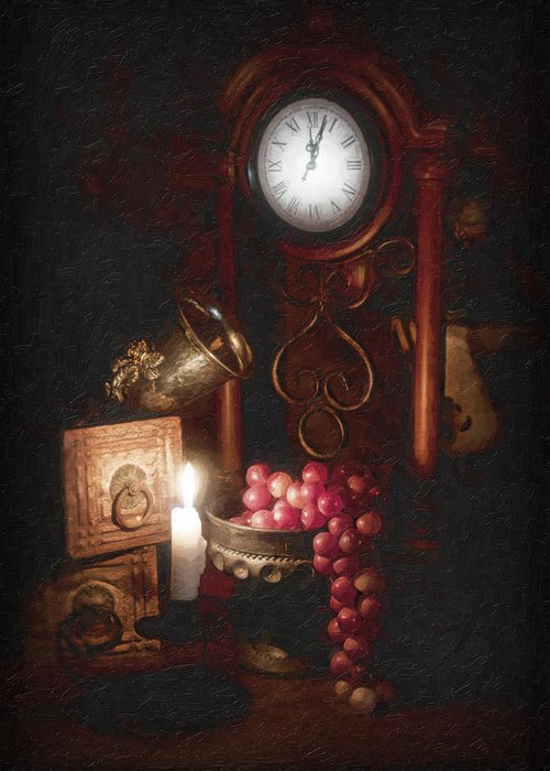 Grapes Greeting Card featuring the photograph After Midnight by Tom Mc Nemar