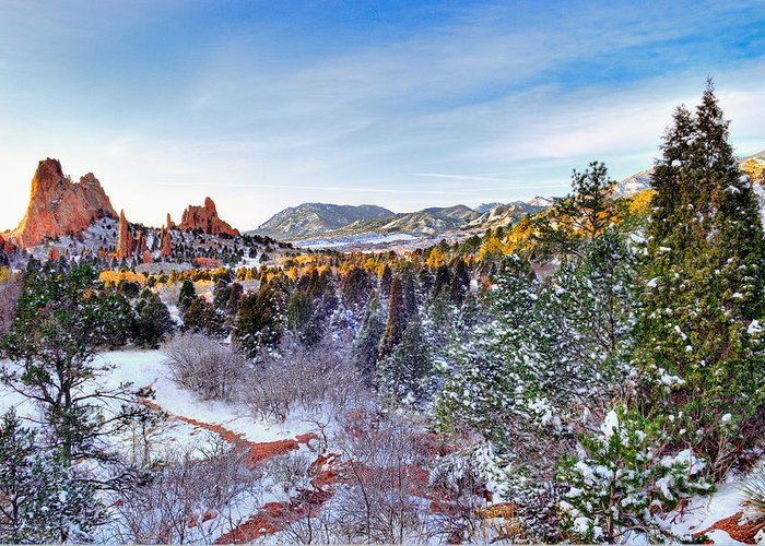 Colorado Landscapes Greeting Card featuring the photograph After The Storm by Tim Reaves