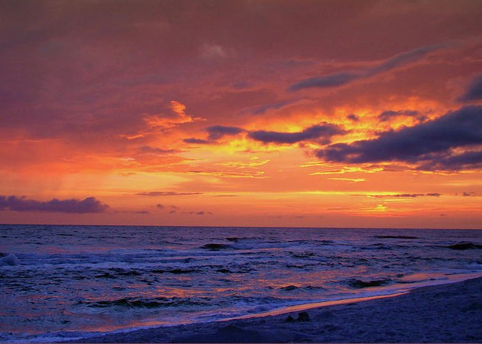 Sunset Greeting Card featuring the photograph After The Sunset by Sandy Keeton