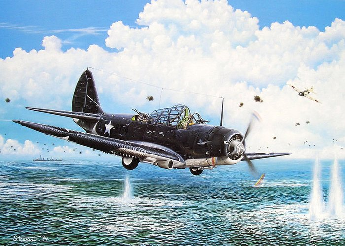 Military Greeting Card featuring the painting Against The Odds by Marc Stewart