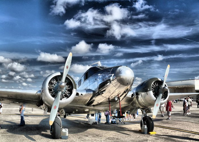 Airplane Greeting Card featuring the photograph Air Hdr by Arthur Herold Jr