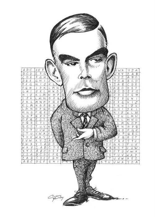 Alan Turing Greeting Card featuring the photograph Alan Turing, British Mathematician by Gary Brown