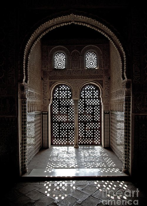 Alhambra Greeting Card featuring the photograph Alhambra Window by Jane Rix