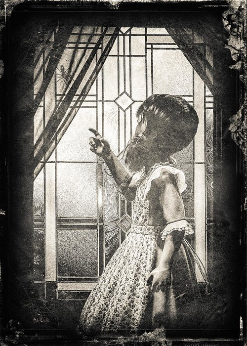 Little Miss Muffet Greeting Card featuring the photograph Along Came A Spider by Bob Orsillo