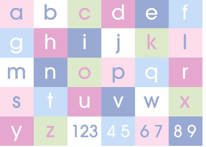Alphabet Canvas Greeting Card featuring the digital art Alphabet Pastel by Michael Tompsett