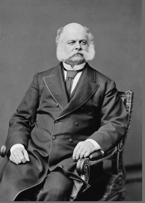 Ambrose Burnside Greeting Card featuring the photograph Ambrose Burnside And His Sideburns by War Is Hell Store