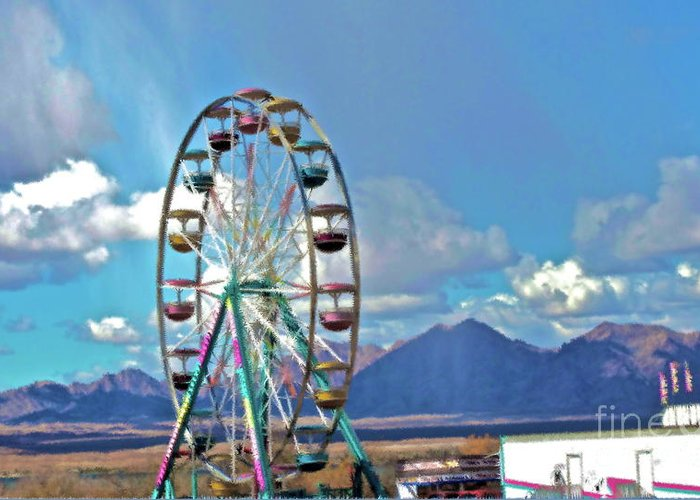Carnival Greeting Card featuring the photograph Amusement View by Gwyn Newcombe