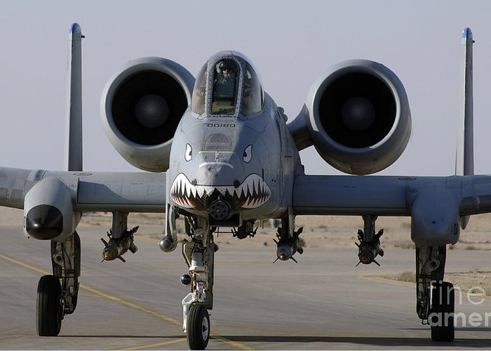 A-10 Greeting Card featuring the photograph An A-10 Thunderbolt II by Stocktrek Images