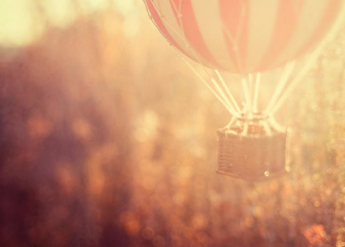 Hot Air Balloon Greeting Card featuring the photograph Anything Is Possible by Irene Suchocki