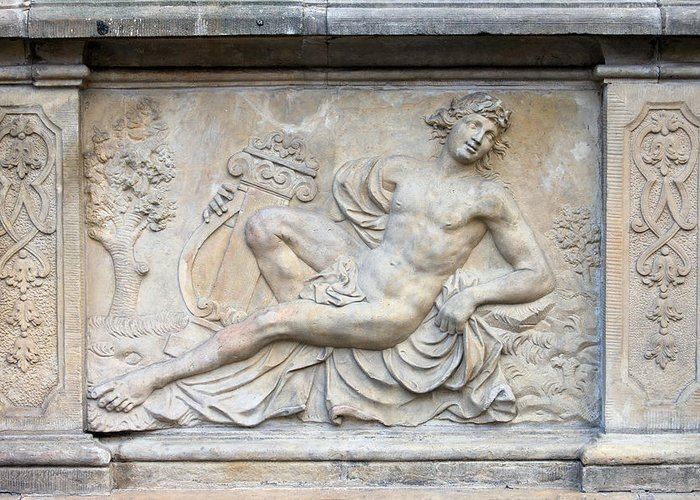 Relief Greeting Card featuring the photograph Apollo Relief In Gdansk by Artur Bogacki