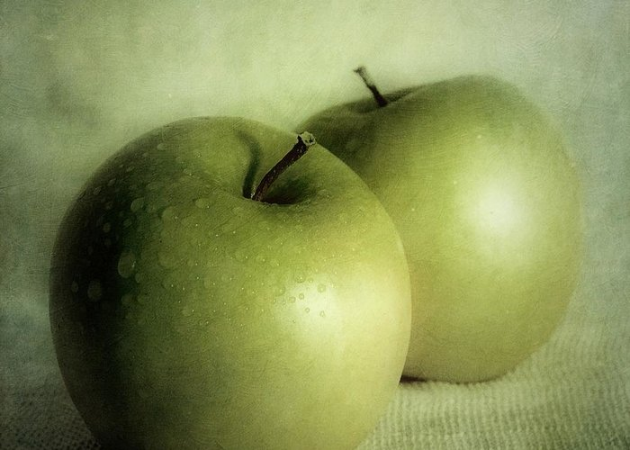 Apple Greeting Card featuring the photograph Apple Painting by Priska Wettstein