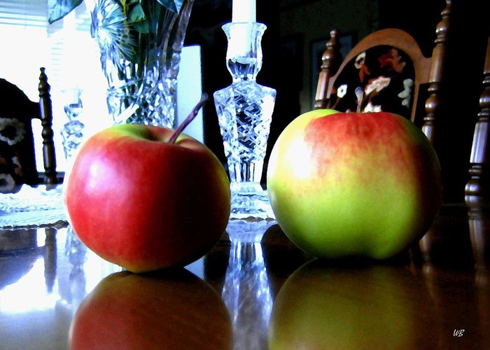 Apples Greeting Card featuring the photograph Apples Still Life by Will Borden