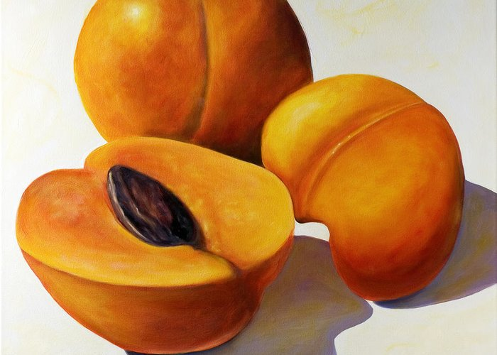 Apricots Greeting Card featuring the painting Apricots by Shannon Grissom