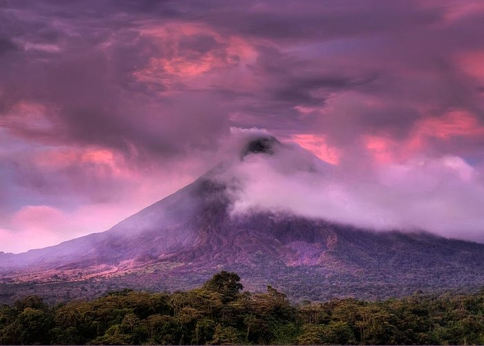 Arenal Volcano Greeting Card featuring the photograph Arenal Volcano by Dolly Sanchez