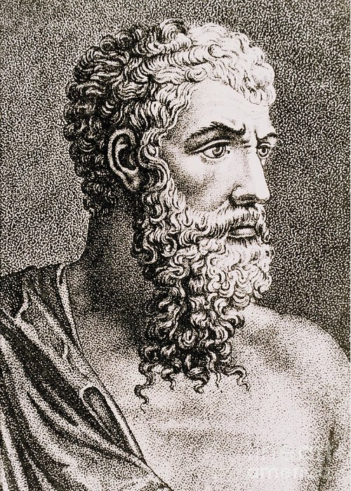 History Greeting Card featuring the photograph Aristotle, Ancient Greek Philosopher by Science Source