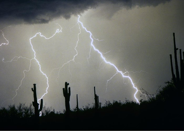 Desert Greeting Card featuring the photograph Arizona Desert Storm by James BO Insogna