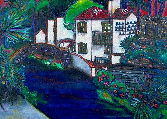 San Antonio Greeting Card featuring the painting Arneson Theater by Patti Schermerhorn