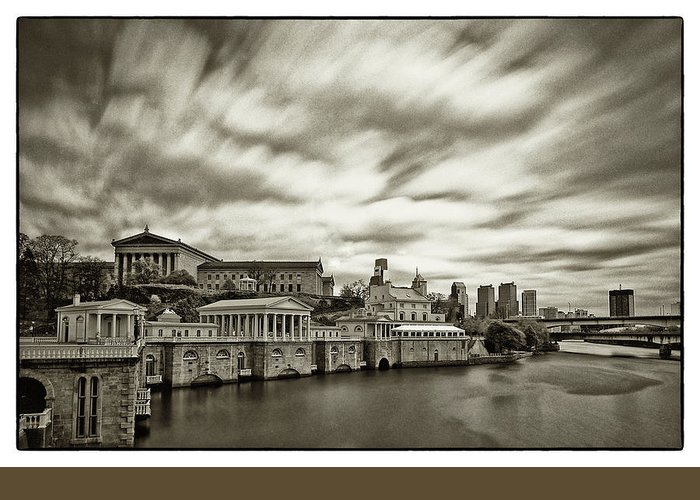 Philadelphia Art Museum Greeting Card featuring the photograph Art Museum Time Exposer by Jack Paolini