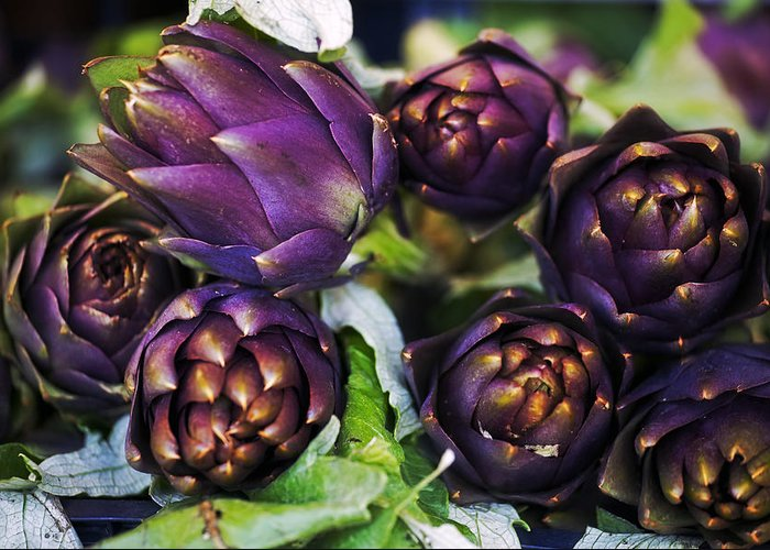 Artichokes Greeting Card featuring the photograph Artichokes by Joana Kruse