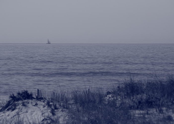 Sailboat Greeting Card featuring the photograph At Sea by Christopher Kirby