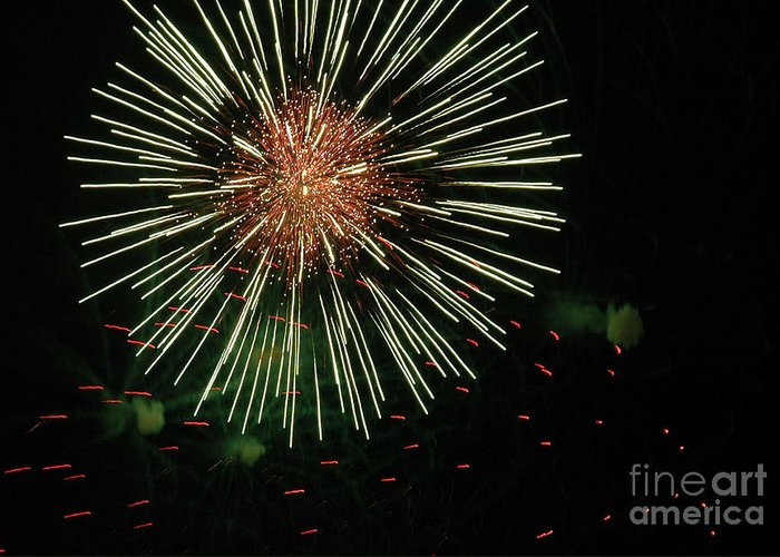 Fireworks Greeting Card featuring the photograph Atom Burst by Norman Andrus
