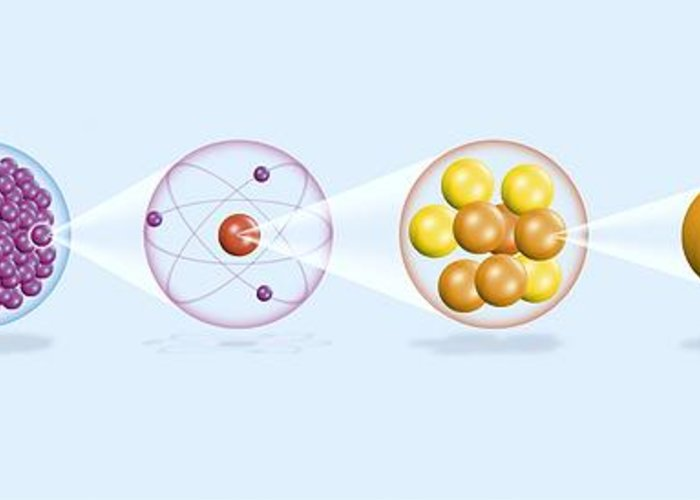 Physics Greeting Card featuring the photograph Atomic Structure, Artwork by Claus Lunau