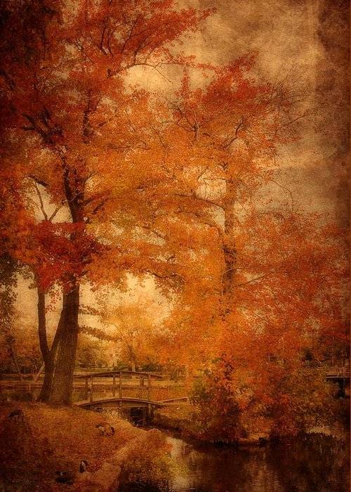 Autumn Greeting Card featuring the photograph Autumn Tapestry - Lake Carasaljo by Angie Tirado
