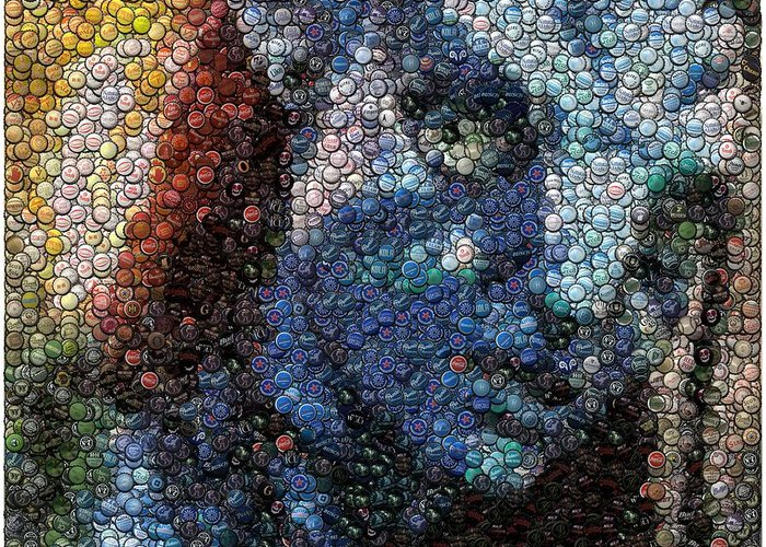 Neytiri Greeting Card featuring the digital art Avatar Neytiri Bottle Cap Mosaic by Paul Van Scott