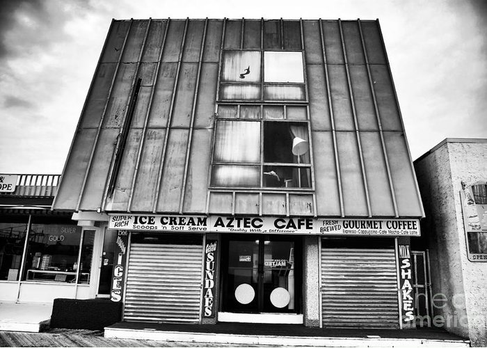 Aztec Cafe Greeting Card featuring the photograph Aztec Cafe by John Rizzuto
