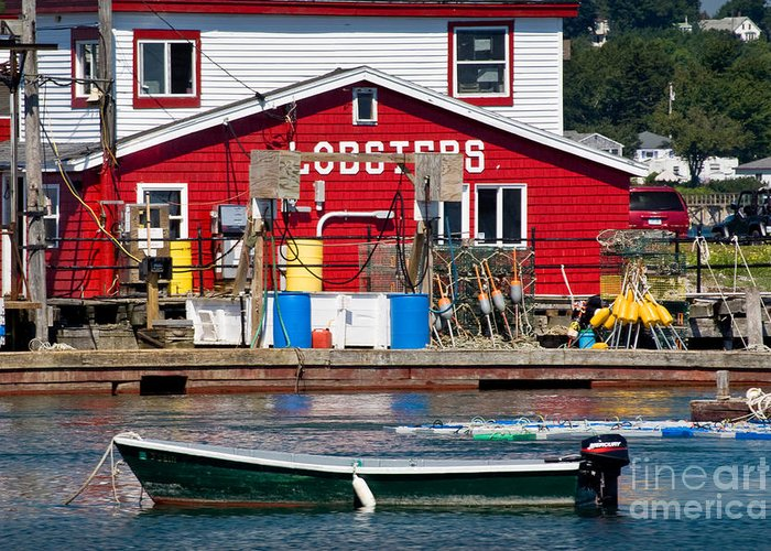 August Greeting Card featuring the photograph Bailey Island Lobster Pound by Susan Cole Kelly