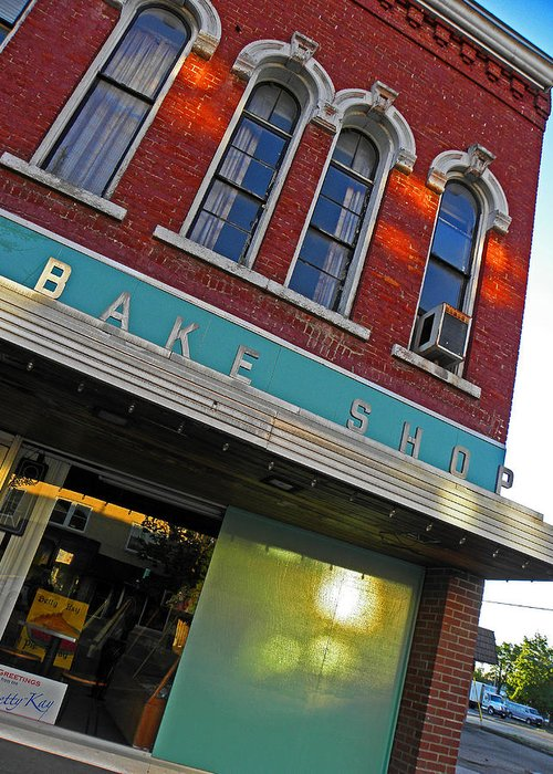 Architecture Greeting Card featuring the photograph Bake Shop by Elizabeth Hoskinson