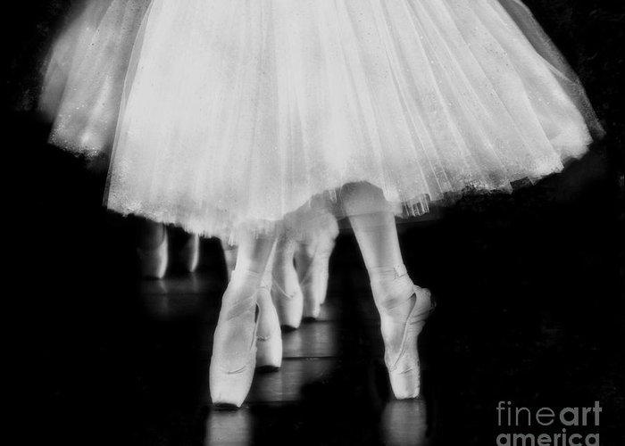 Ballet Greeting Card featuring the photograph Ballet Black And White by Kevin Moore